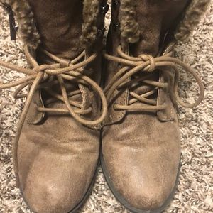 Qupid Sherpa brown Lined Booties